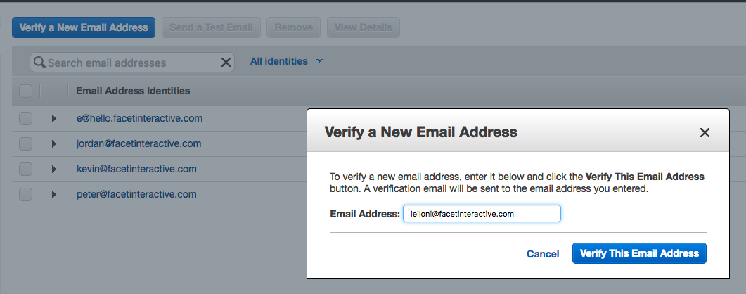 Verify a New Email Address in Amazon SES